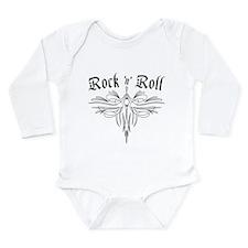 Rock n Roll Stripe Long Sleeve Infant Bodysuit