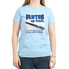Flutes Up Front Women's Pink T-Shirt