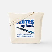 Flutes Up Front Tote Bag