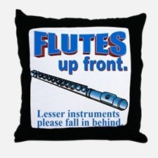 Flutes Up Front Throw Pillow