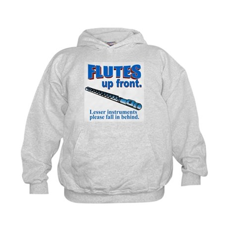 Flutes Up Front Kids Hoodie