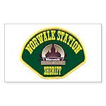 Norwalk Sheriff Sticker (Rectangle)