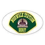 Norwalk Sheriff Sticker (Oval)