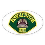 Norwalk Sheriff Sticker (Oval 50 pk)