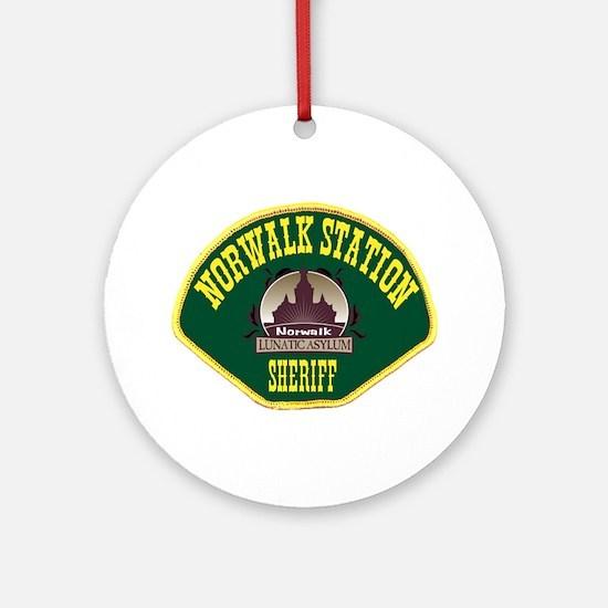 Norwalk Sheriff Ornament (Round)