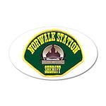 Norwalk Sheriff 22x14 Oval Wall Peel