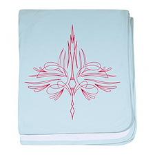 Pinstripe baby blanket