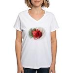Musical Rose Women's V-Neck T-Shirt