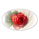 Musical Rose Sticker (Oval 50 pk)