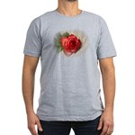 Musical Rose Men's Fitted T-Shirt (dark)
