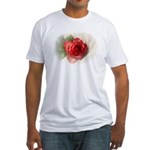 Musical Rose Fitted T-Shirt