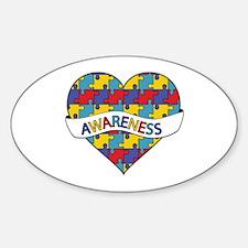Autism Awareness Heart Decal