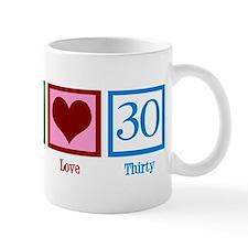 Peace Love 30 Small Mugs