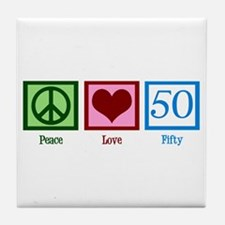 Peace Love 50 Tile Coaster