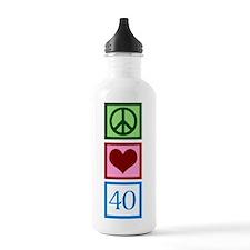 Peace Love 40 Water Bottle