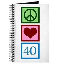 Peace Love 40 Journal