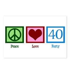 Peace Love 40 Postcards (Package of 8)