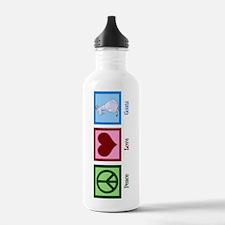 Peace Love Goats Water Bottle