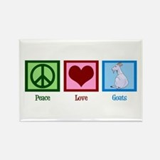 Peace Love Goats Rectangle Magnet