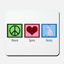 Peace Love Goats Mousepad