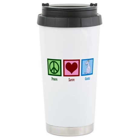 Peace Love Goats Stainless Steel Travel Mug