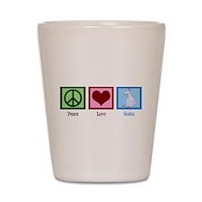 Peace Love Goats Shot Glass