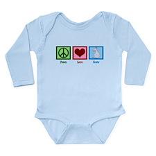 Peace Love Goats Long Sleeve Infant Bodysuit