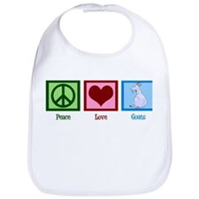 Peace Love Goats Bib