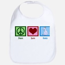 Peace Love Goats Bib