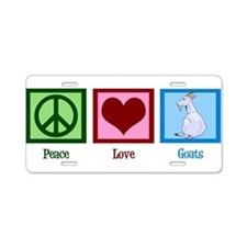 Peace Love Goats Aluminum License Plate