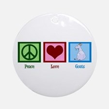 Peace Love Goats Ornament (Round)