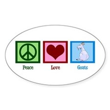 Peace Love Goats Decal
