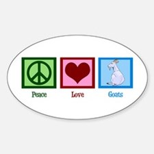 Peace Love Goats Sticker (Oval)
