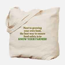 Know Your Farmer Tote Bag