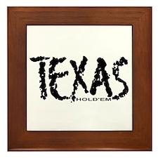 """""""Texas Hold'em"""" Framed Tile"""