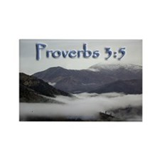 Proverbs 3:5 Rectangle Magnet