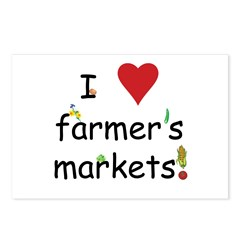 I Love Farmer's Markets Postcards (Package of 8)