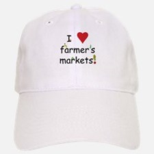 I Love Farmer's Markets Baseball Baseball Cap