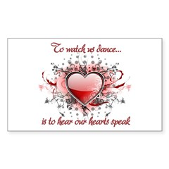 To Watch Us Dance Sticker (Rectangle 10 pk)