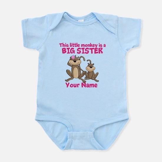Big sister monkey Infant Bodysuit