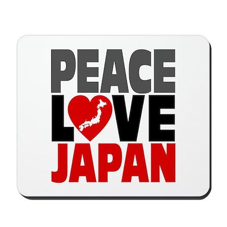Peace Love Japan Mousepad
