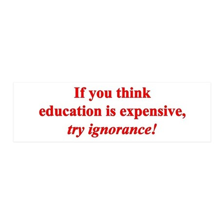 Education quote (Red) 21x7 Wall Peel