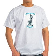 Navy - Lone Sailor with Text T-Shirt
