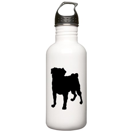 Pug Silhouette Stainless Water Bottle 1.0L