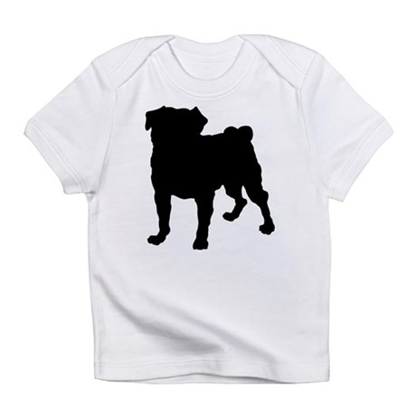 Pug Silhouette Infant T-Shirt