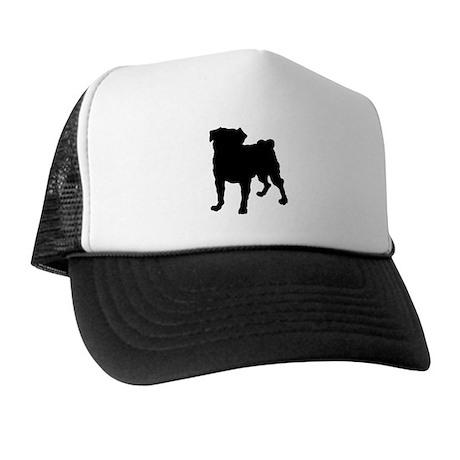 Pug Silhouette Trucker Hat