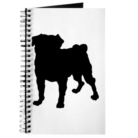 Pug Silhouette Journal