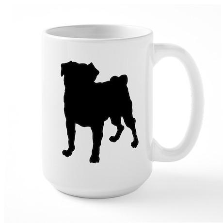 Pug Silhouette Large Mug
