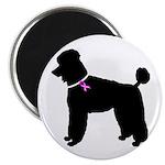 Poodle Breast Cancer Support Magnet
