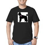 Poodle Breast Cancer Support Men's Fitted T-Shirt